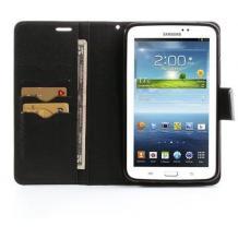 "Кожен калъф Flip тефтер Mercury GOOSPERY Fancy Diary със стойка за Samsung Galaxy Tab 4 8.0"" T330 - черен"