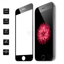 Извит стъклен скрийн протектор / 3D Full Cover Tempered Glass Protection Screen / за Apple iPhone 5 / iPhone 5S / iPhone 5C / iPhone SE - черен