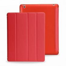 """Кожен калъф със стойка за Apple iPad 2 / iPad 3 / iPad 4 9.7""""- червен"""