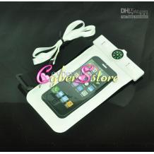 Водоустойчив калъф Waterproof с компас за мобилен GSM телефон, Samsung, HTC, LG, Nokia, iPhone, Sony, MP3, MP4 - бял