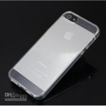 Силиконов калъф / гръб / TPU за Apple iPhone 5 / 5S - прозрачен