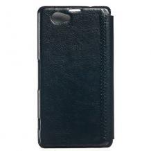 Луксозен кожен калъф тефтер Kalaideng ENLAND за Sony Xperia Z1 Compact D5503 - черен