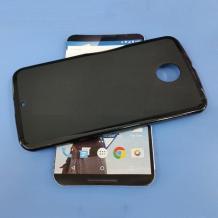 Силиконов калъф / гръб / TPU за Motorola Nexus 6 - черен / мат