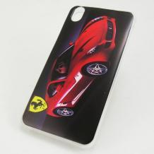 Силиконов калъф / гръб / TPU за Lenovo S850 - червено Ferrari