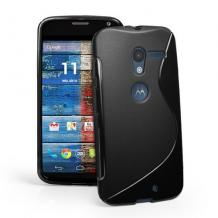 Силиконов калъф / гръб / TPU S-Line за Motorola Moto X XT1058 - черен