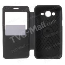 Луксозен калъф Wow Bumper S-View за Samsung J500 Galaxy J5 - Mercury Goospery / черен