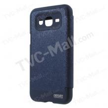 Луксозен калъф Wow Bumper S-View за Samsung J500 Galaxy J5 - Mercury Goospery / тъмно син