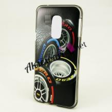 Силиконов калъф / гръб / TPU за Coolpad Torino S - черен / гуми