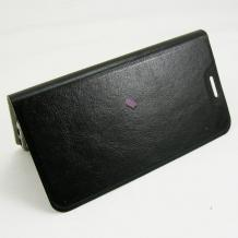 """Кожен калъф Flip тефтер Flexi със стойка за Alcatel One Touch Idol 3 5.5"""" - черен"""