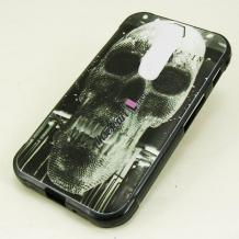 Силиконов калъф / гръб / TPU за Coolpad Torino S - черен / череп