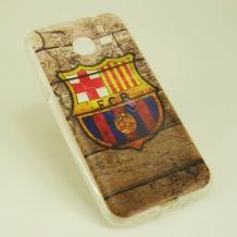 Силиконов калъф / гръб / TPU за Sony Xperia M2 / Xperia M2 Aqua - FC Barcelona / Retro Style