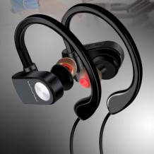 Bluetooth магнитна слушалка / Bluetooth Headphone Wuw R01 Sporty Stereo Spesial - черни