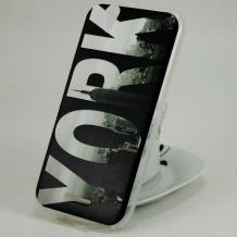 Силиконов калъф / гръб / TPU за Acer Liquid Z630 - черен / New York