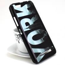 Силиконов калъф / гръб / TPU за Alcatel 5 5086D - черен / New York