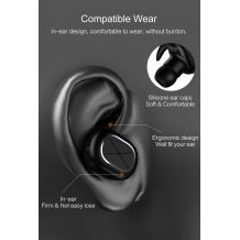 Bluetooth слушалка USAMS LS Series US-LS001 Bluetooth Earphone Headset - черна