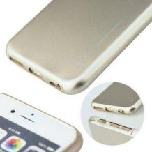 Луксозен силиконов калъф / гръб / TPU MERCURY i-Jelly Case Metallic Finish за LG K3 - златист