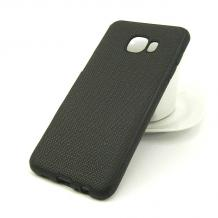 Луксозен силиконов калъф / гръб / TPU за Samsung Galaxy C5 - черен