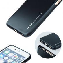 Луксозен силиконов калъф / гръб / TPU MERCURY i-Jelly Case Metallic Finish за LG K3 - черен