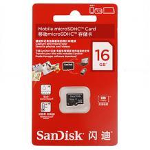 MicroSDHC карта / 16GB / SANDISK CLASS 4