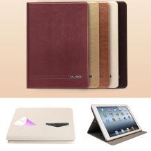 Луксозен кожен калъф KA Series Kalaideng със стойка за Apple iPAD 5 / iPad Air - златист