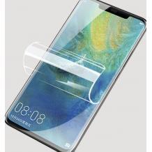 Удароустойчив извит скрийн протектор / 3D Full Cover Pet / за Huawei P30 Pro - прозрачен