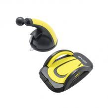 Универсална стойка за кола AWEI X7 Car Mount Holder за Samsung, Apple, Huawei, Lenovo, LG, HTC, Sony, Nokia, ZTE, Xiaomi - черна и жълто