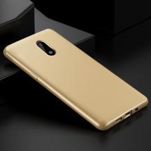 Силиконов калъф / гръб / TPU за A1 Smart N9 - златист / мат