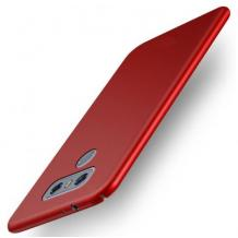 Силиконов калъф / гръб / TPU за LG K50S - червен / мат