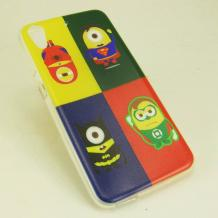 Силиконов калъф / гръб / TPU за HTC Desire 650 - Миньони / Minions / Супер герои