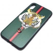 Луксозен твърд гръб за Apple iPhone X / iPhone XS - зелен / Tiger