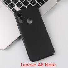 Силиконов калъф / гръб / TPU за Lenovo A6 Note - черен / мат