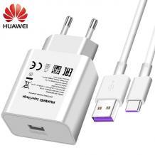 Оригинално зарядно за Huawei P Smart 2021 / AP81 Super Charge Type-C - бяло