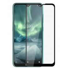 3D full cover Tempered glass Full Glue screen protector за Nokia 2.3 / Извит стъклен скрийн протектор с лепило от вътрешната страна за Nokia 2.3 - черен