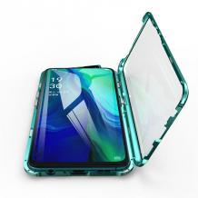 Магнитен калъф Bumper Case 360° FULL за Apple iPhone 6 / iPhone 6S - прозрачен / зелена рамка