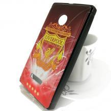 Силиконов калъф/ гръб / TPU за Microsoft Lumia 435 - FC Liverpool