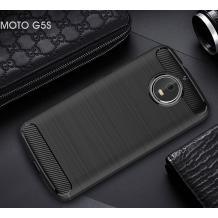 Силиконов калъф / гръб / TPU за Moto G5S - черен / carbon