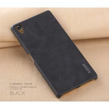 Оригинален кожен гръб X-level Vintage Series за Sony Xperia X Compact F5321 / X Mini - черен