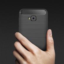 Силиконов калъф / гръб / TPU за Asus Zenfone 4 Selfie ZB553KL - черен / carbon