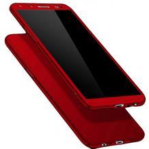 Твърд гръб Magic Skin 360° FULL за Samsung Galaxy A21s - червен