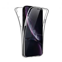 Силиконов калъф / гръб / TPU 360° за Xiaomi Redmi Note 8 Pro - прозрачен / 2 части / лице и гръб