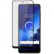 3D full cover Tempered glass Full Glue screen protector Alcatel 3X 2020 / Извит стъклен скрийн протектор с лепило от вътрешната страна за Alcatel 3X 2020 - черен