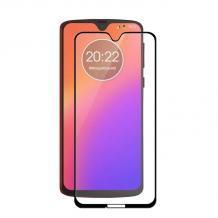 3D full cover Tempered glass Full Glue screen protector Motorola Moto G7 / Извит стъклен скрийн протектор с лепило от вътрешната страна за Motorola Moto G7 - черен