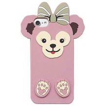 Силиконов калъф / гръб / TPU 3D за Apple iPhone 7 / iPhone 8 - Cartoon Duffy Bear / розов