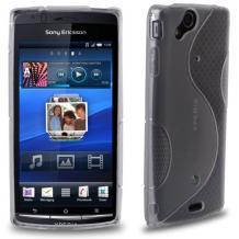 Силиконов калъф / гръб / ТПУ S-Line за Sony Ericsson Xperia Arc X12 / Arc S - сив / прозрачен