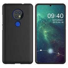 Силиконов калъф / гръб / TPU за Nokia 7.2 - черен / мат