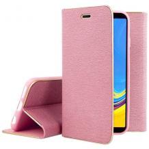 Луксозен кожен калъф Flip тефтер Vennus за Apple iPhone 7 / iPhone 8 - розов
