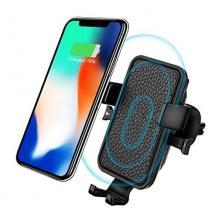 Универсална стойка за кола с безжично зареждане Easy One Touch Wireless Air Gravity Car за Samsung, Apple, Huawei, Lenovo, LG, HTC, Sony, Nokia, ZTE, Xiaomi - черна / въртяща се на 360°