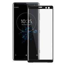 3D full cover Tempered glass screen protector Sony Xperia XZ3 / Извит стъклен скрийн протектор за Sony Xperia XZ3 - черен