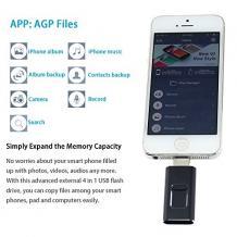 USB Flash памет 4in1 OTG / Type C / Micro USB / iPhone / Android - 64GB / черен