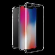 Tвърд гръб 360° със силиконова част и протектор за Samsung Galaxy A20e - прозрачен